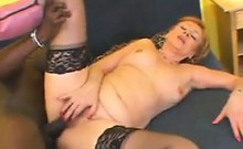 Mature Mother Enjoying A Large Black Cock