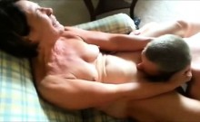 Mature wife getting pleased by two men