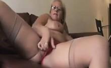 Naughty Grandma Masturbates
