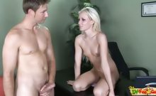 18yo blond teen rides doctor's cock