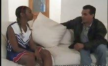 Teen Ebony Cheerleader Balled 1