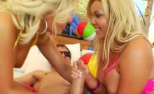 Big booty hotties Aubrey Addams and Emma Heart anal pounded
