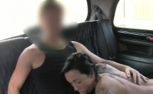 Stunning tattooed amateur banged in fake taxi pov