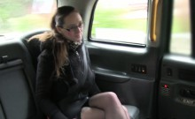 Tattooed amateur banged in fake taxi
