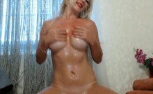 Gorgeous Blonde Bombshell Plays her Tight Pink Pussy